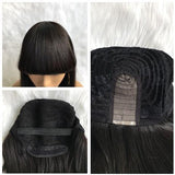 Hot Beauty Hair Bob Wig With Bang High Density 100% Human Virgin Hair