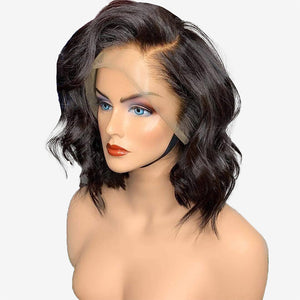 Hot Beauty Hair Loose Wave Bob Wig Frontal Lace Wig 100% Virgin Human Hair