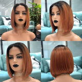 Hot Beauty Hair Ombre Closure Lace Wig Rose Gold