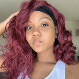 Hot Beauty Hair Redviolet Headband Wig(Get Free Headband Set)