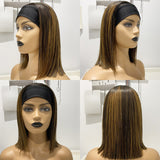 Hot Beauty Hair Gorgeous Highlight Headband Bob Wig(Get Free Headband Set)