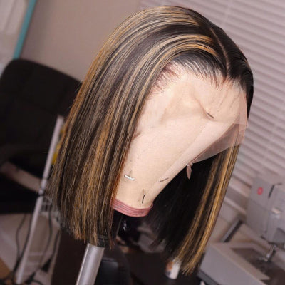 mix color highlight frontal lace wig
