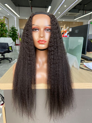 U-Part Wig Kinky Straight - 24inches