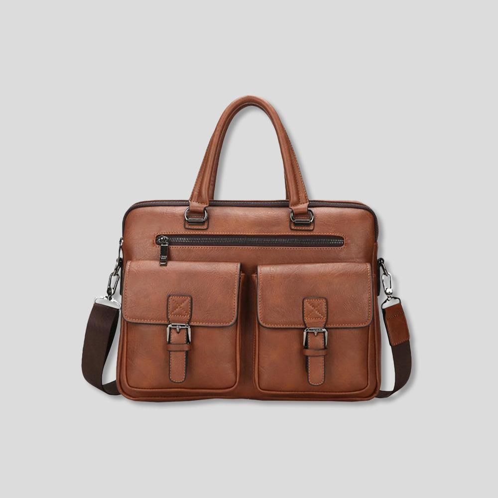 Weekend Warrior Durable Leather Briefcase