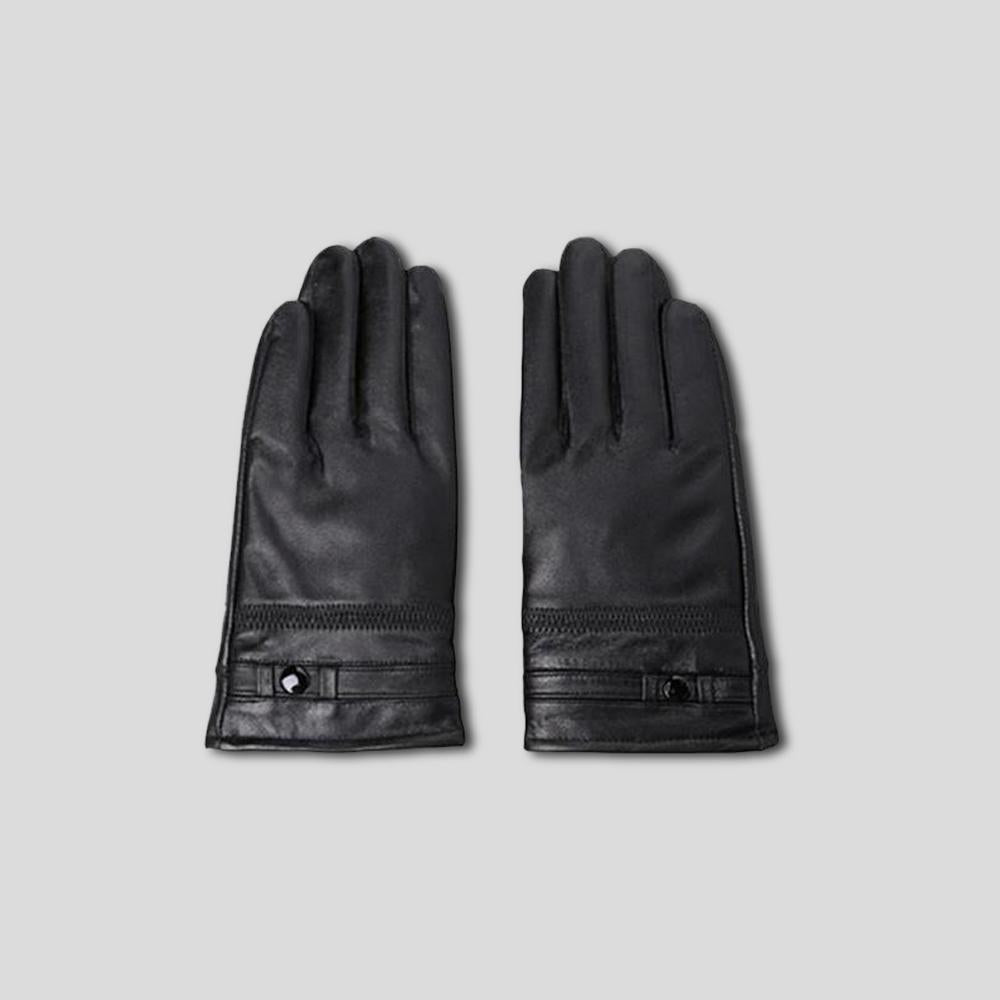 Long-Cut Leather Gloves