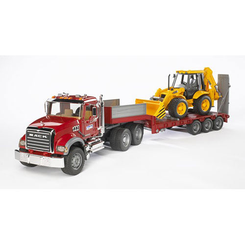 Bruder Granite Flatbed w Backhoe