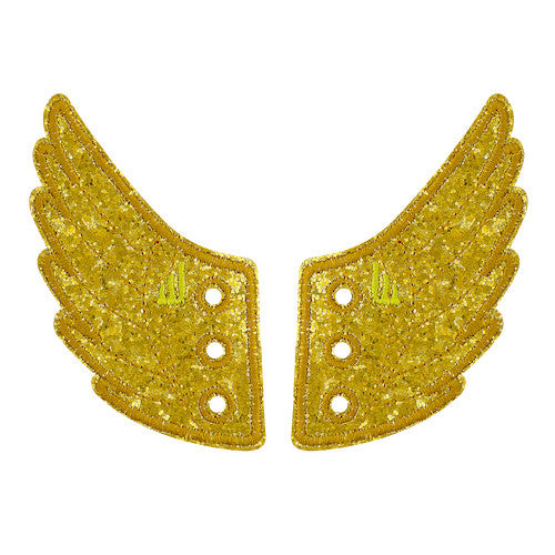 Shwings Broadway Shoe Wings Shwings Shoe Wings| Gold Sparkle