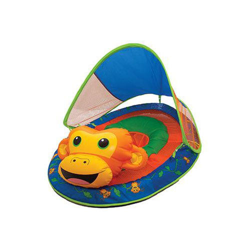 SwimWays Baby Spring Float Sun Canopy Blue Whale
