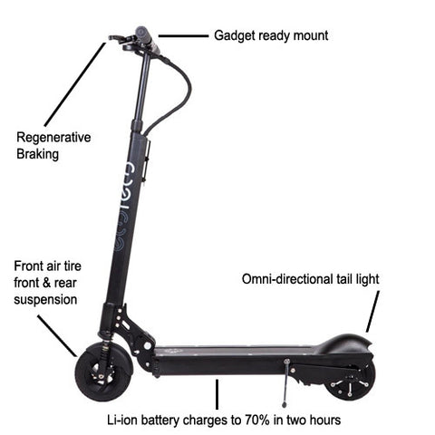 EcoReco S5 Electric Scooter Premium Blk