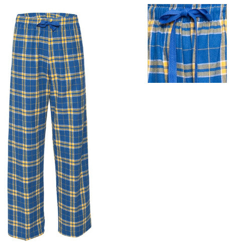 Boxercraft Plaid Flannel Pants Royal/Gold Adult Large