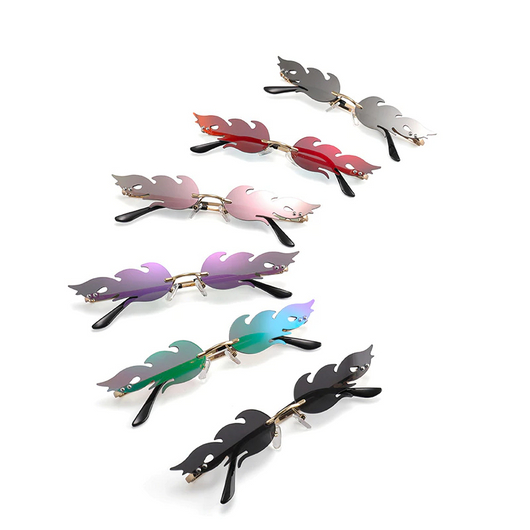 Unisex 'Lord' Flower Feather Flame Shape Sunglasses Astroshadez-ASTROSHADEZ.COM-ASTROSHADEZ.COM