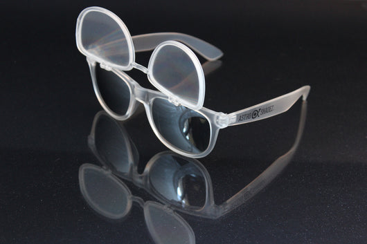 Frost-Clear Flip Diffraction Glasses