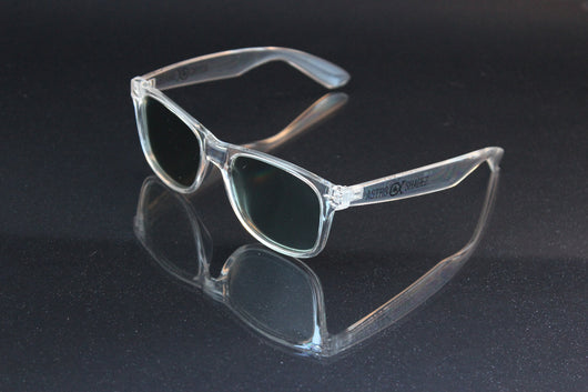 Clear Frame w/ Tinted Diffraction Glasses