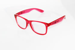 Transparent Red Frame w/ Clear Diffraction Glasses