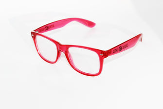 Transparent Red Frame w/ Clear Diffraction Glasses Astroshadez-Other Unisex Clothing & Accs-Astroshadez-Clear-ASTROSHADEZ.COM
