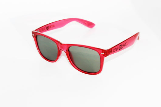 Transparent Red Frame w/ Tinted Diffraction Glasses