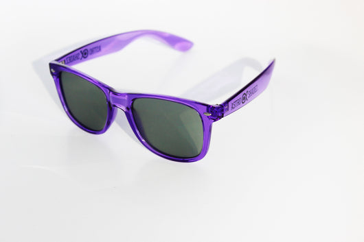 Transparent Purple Frame w/ Tinted Diffraction Glasses