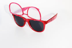 Transparent Red w/ Flip Spiral Diffraction Glasses