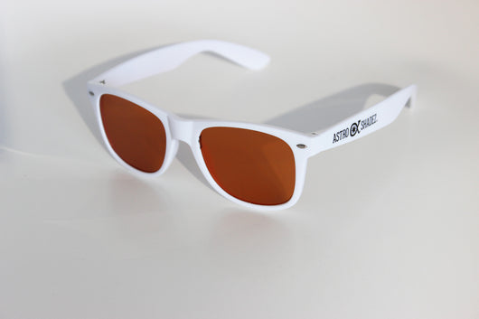 White Frame w/ Amber Diffraction Glasses Astroshadez-Other Unisex Clothing & Accs-Astroshadez-White-ASTROSHADEZ.COM