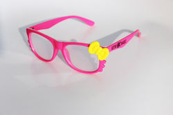 Pink Kitty Frame w/ Spiral Diffraction Glasses