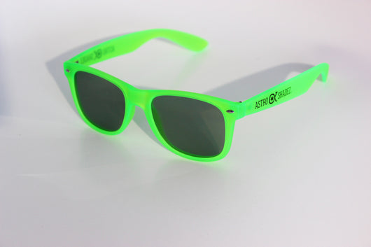 Green Glow-in-the-Dark w/ Tinted Diffraction Glasses Astroshadez
