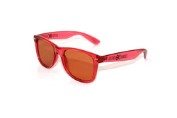 Transparent Red Frame w/ Amber Diffraction Glasses