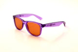 Transparent Purple Frame w/ Amber Diffraction Glasses