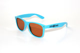 Aqua Frame w/ Amber Diffraction Glasses