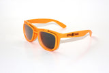 Neon Orange Flip Diffraction Glasses