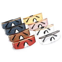 Mens 'Tyga' Large Shielded Futuristic Sunglasses Astroshadez