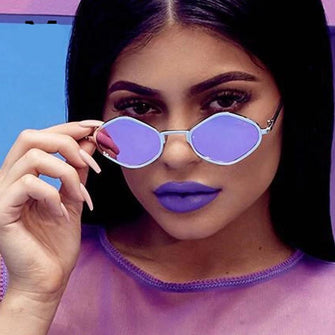 Womens 'Hexagon' Shaped Kylie Celebrity Sunglasses-Women's Sunglasses-ASTROSHADEZ-ASTROSHADEZ.COM