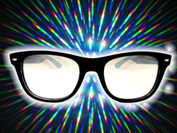 Black Frame w/ Clear Diffraction Glasses Astroshadez