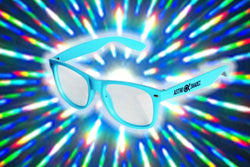 Aqua Frame w/ Clear Diffraction Glasses Astroshadez