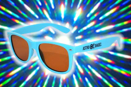 Aqua Frame w/ Amber Diffraction Glasses Astroshadez