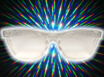 Clear Frame w/ Clear Diffraction Glasses Astroshadez-Other Unisex Clothing & Accs-Astroshadez-Clear-ASTROSHADEZ.COM