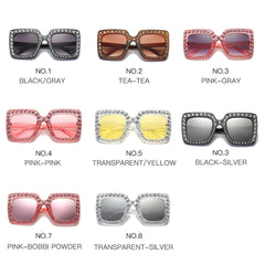 Womens 'Cucci' Crystal Studded Large Sunglasses Astroshadez-ASTROSHADEZ.COM-ASTROSHADEZ.COM