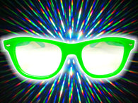 Green Glow-in-the-Dark w/ Clear Diffraction Glasses Astroshadez