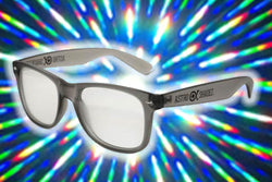 Smoke Grey Frame w/ Clear Diffraction Glasses Astroshadez