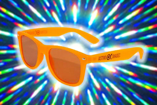 Orange Glow-in-the-Dark w/ Amber Diffraction Glasses Astroshadez-Other Unisex Clothing & Accs-Astroshadez-Orange-ASTROSHADEZ.COM