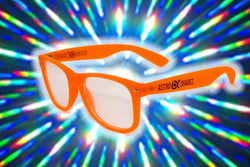 Orange Glow-in-the-Dark w/ Clear Diffraction Glasses Astroshadez