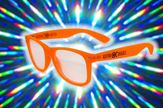 Orange Glow-in-the-Dark w/ Clear Diffraction Glasses Astroshadez-Other Unisex Clothing & Accs-Astroshadez-Orange-ASTROSHADEZ.COM