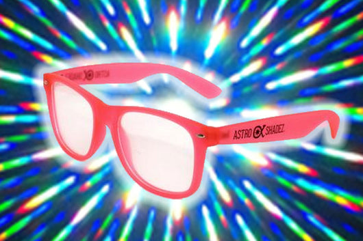 Pink Glow-in-the-Dark w/ Clear Diffraction Glasses Astroshadez