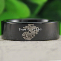 USMC MARINE CORPS Men's Fashion Tungsten CARBIDE Ring WEDDING-ASTROSHADEZ.COM-ASTROSHADEZ.COM