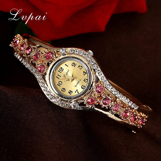 Lvpai 2016 Brand Women Watches Fashion Flower Crystal Watch Wristwatches Women Dress Ladies Casual Quartz Fashion Watch-ASTROSHADEZ.COM-ASTROSHADEZ.COM