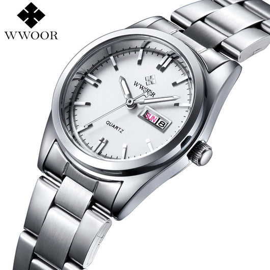 Luxury Brand Women Watches Women Quartz Date Analog Clock Ladies Silver Stainless Steel Casual Wrist Watch Female Montre Femme-ASTROSHADEZ.COM-ASTROSHADEZ.COM