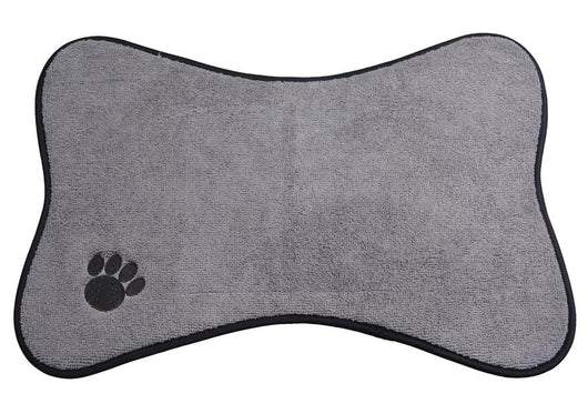 Microfiber Mats Mat Pet Mats Small/Medium Dog Bowl Place Mat with Paw Imprint Design Pet Placemat 21-inch by 12.7-inch-ASTROSHADEZ.COM-ASTROSHADEZ.COM