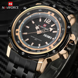 NAVIFORCE Mens Brand Full Steel Quartz Watch Man Army Military Watches Men Waterproof Sports Wristwatches Relogio Masculino