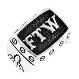FTW Middle Finger MC Biker Ring Stainless Steel Jewelry Silver Black Gold-ASTROSHADEZ.COM-ASTROSHADEZ.COM