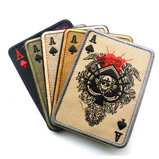 Cavalryman Ace Spades Tarot Death Card MC Biker Patch Set Iron On Vest Jacket Rocker Hells-ASTROSHADEZ.COM-ASTROSHADEZ.COM
