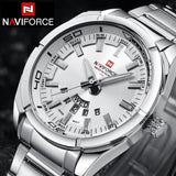 NAVIFORCE Top Luxury Brand Men Sports Watches Mens Quartz Clock Man Stainless Steel Army Military Wrist Watch Relogio Masculino-ASTROSHADEZ.COM-ASTROSHADEZ.COM